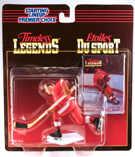 GORDIE HOWE / DETROIT RED WINGS 1995 Timeless Legends NHL Starting Lineup & Collector Trading Card * CANADA EXCLUSIVE SERIES *