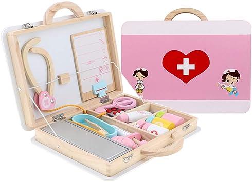 perfeclan 15 Unidades de Caja de Madera Médico Enfermera Juego de rol Conjunto de Juguetes para Niños: Amazon.es: Juguetes y juegos