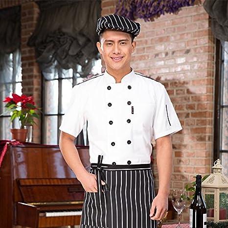 Chaqueta de Chef Cocina Uniforme Manga Corta