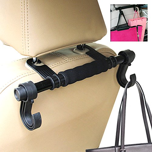 Hook Up Seat | Superb Space Saving Hanging Organizer with Double Hook, Prime Grade PP and Stainless Steel Materials, Effortless Installation on Any Car Seat, Vibrant Black 1187 - Swing Away Seat