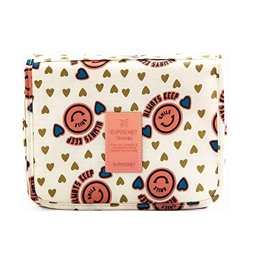 ce02e20662f7 Hanging Toiletry Bag, Travel Organizer for Men and Women (Pink Smile)
