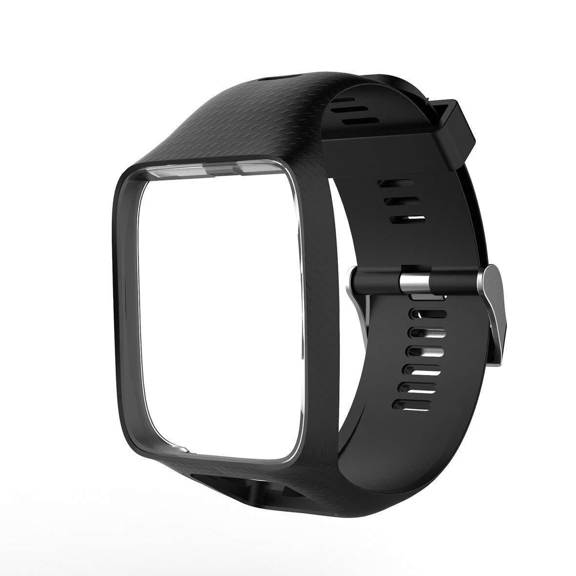 Heaviesk Bracelet de Montre pour Tom Tom 2 s/érie 3 Bracelet de Montre Bracelet de Remplacement en Silicone Bracelet pour Montre Tomtom Runner 2 3 GPS