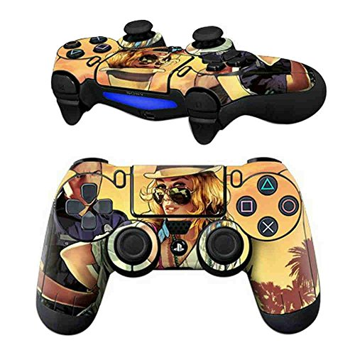 MODFREAKZ Pair of Vinyl Controller Skins - Hat Sunglass Girl Thief Cop for Playstation - Sunglasses Thieves
