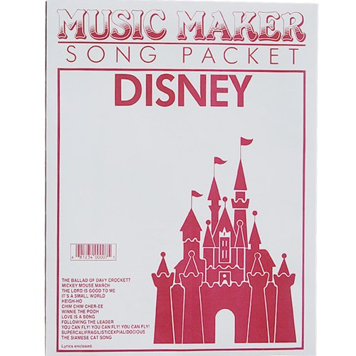 European Expressions Intl Disney #1 Music Maker Song Sheet - Music Maker Song Sheets