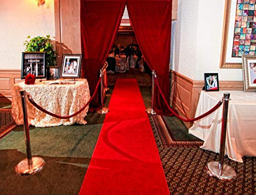 Carpet Red Stair Carpet 2 ft x 20 ft Party Function Fabric Red Carpet for Gallery Floor Runner & Awards Night Party Item (red, 2 x 20)