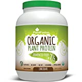 PlantFusion Organic Plant Based Protein & Fermented Foods Powder, Chocolate, 2 lb Tub, 30 Servings, 1 Count, USDA Organic, Vegan, Gluten Free