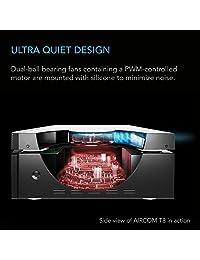 AC Infinity AIRCOM T8, Sistema de ventilación, soplador, refrigeración silenciosa de 17 pulgadas para receptores, amplificadores, DVR, componentes de gabinete de AV.