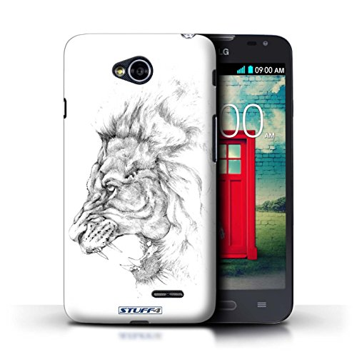 Kobalt® Imprimé Etui / Coque pour LG L70/D320 / Lion conception / Série Dessin Croquis