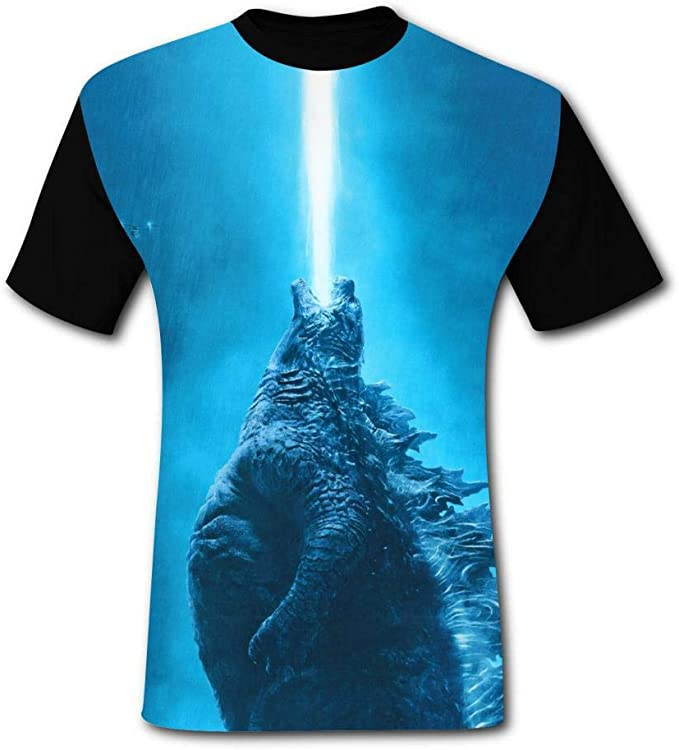 G-od-Zill-a Printed T Shirts Outdoor Sport Short Sleeve Fast Drying BEKAI Mens Hipster Tee