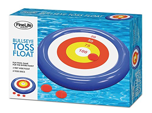 Pool Floats for Toddlers, Plastic Floating Pool Games Bullseye Toss (Sold by Case, Pack of 6) by FineLife (Image #1)