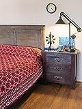 Ruby Kilim ~ Rustic Red Black Luxury Designer Queen Bedspread 90x90