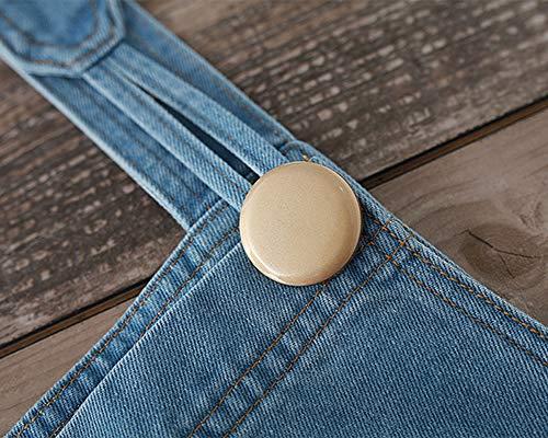 Blu1 Bavaglino Vita Alta Gamba Donna Jeans Jumpsuit Kasen In Tuta Salopette Pantaloni Larga 1vxWf7Oq
