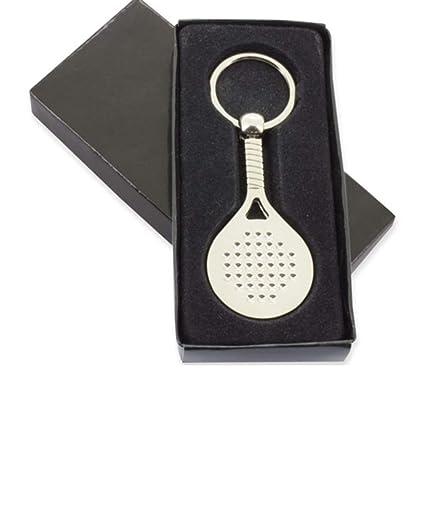 Llavero Metal Raqueta Padel presentado en Estuche cartón y bolsita de Tela Granate de Regalo: Amazon.es: Equipaje