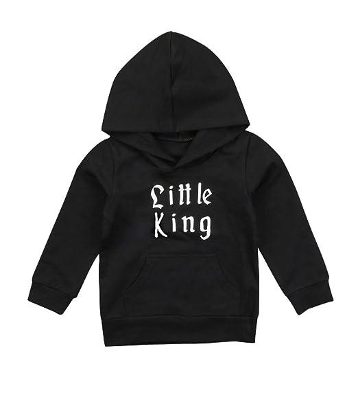 2e22db526545 Amazon.com  Urkutoba Little King Toddler Baby Boys Winter Hoodie ...
