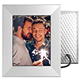 Nixplay-W08E-Silver-Iris-8-WiFi-Cloud-Digital-Photo-Frame-with-IPS-Display-iPhone--Android-App-iOS-Video-Playb