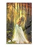 koasncne Fantasy Women Blonde Wood Fairy Printed Shower Bath Towels Highly Absorbent for Beach, Pool and House 31'' x 51''