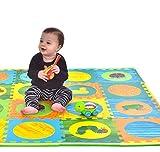 Hungry Caterpillar Baby Mat, Puzzle Mat, Baby Play Mat, Foam Mat, 20 Foam Floor Tiles, Foam Puzzle Mat, Non-Toxic, EVA Foam Mat, Girl & Boy, Infant Play Mat Baby Playmat 65'' x 52'' Review