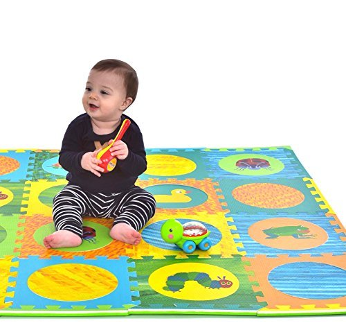 Hungry Caterpillar Baby Mat, Puzzle Mat, Baby Play Mat, Foam Mat, 20 Foam Floor Tiles, Foam Puzzle Mat, Non-Toxic, EVA Foam Mat, Girl & Boy, Infant Play Mat Baby Playmat 65'' x 52'' Review
