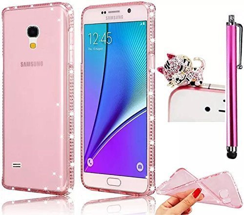 Image of: J7 Pro J7 Cover Galaxy J7 Cover Vandot Soft Transparent Silicone Tpu Diamond Back Cover Frame Amazoncom Amazoncom J7 Cover Galaxy J7 Cover Vandot Soft Transparent