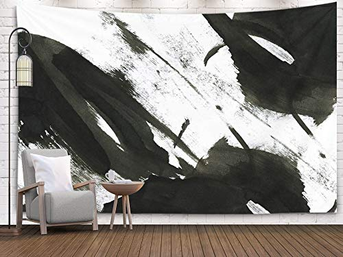 - Sertiony Hanging Wall Tapestry, Art Map Tapestry Décor 80x60 Inches Ink Background Marble Style Black Paint Stroke Texture on White Paper Wallpaper for Web and for Bedroom Colorful Big Tapestries