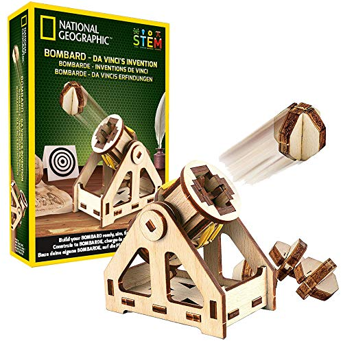 NATIONAL GEOGRAPHIC Da Vinci's DIY Science & Engineering Construction Kit- Build Your Own Wooden Model of The Original Bombard ()