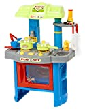 Velocity Toys Kitchen Set Deluxe Beauty Toy Appliance Cooking, Blue/Green...