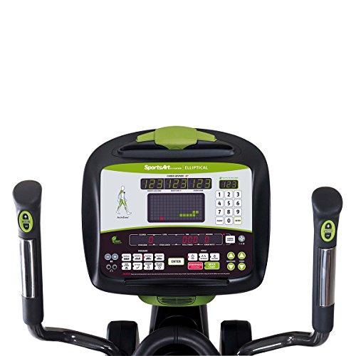 sportsart Fitness g875 Estado serie eco-powr Club elíptica - verde tecnología máquina de cardio convierte la energía humana a la electricidad y ...