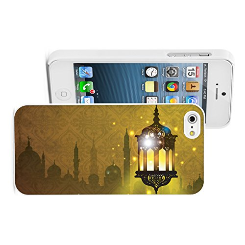 Price comparison product image Apple iPhone 6 6s Hard Back Case Cover Arabic Lantern Lamp with Shiny Night Ramadan (White)