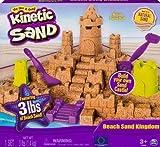 Kinetic Sand Beach Sand Kingdom Plus Bonus Shimmer Sand 3-Pack