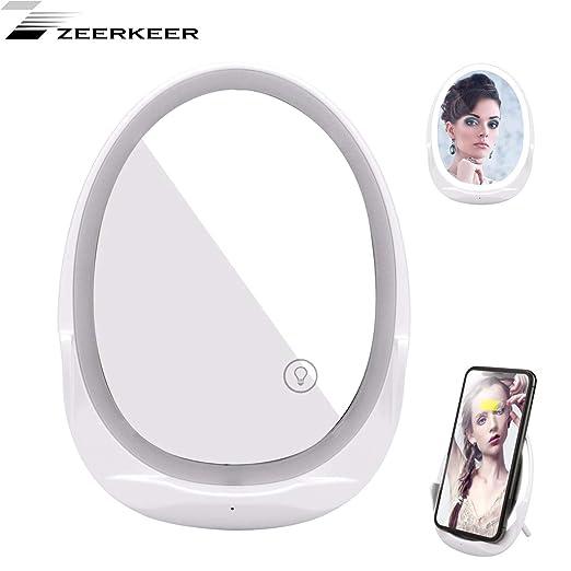 Zeerkeer Espejo LED Multifunción 5 en 1, como Espejo de ...