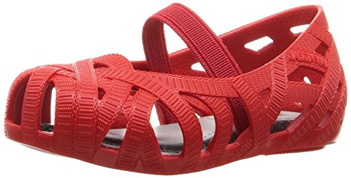 Mini Melissa Girls' Mini Jean + Jason WU Mary Jane, Red, 6 M US Toddler
