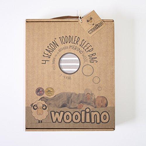Woolino Toddler Sleeping Bag, 4 Season Merino Wool Baby Sleep Bag or Sack, 2-4 Years, Earth by Woolino (Image #8)