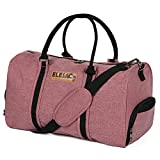 EleSac Canvas Style Duffel Bag for Men and Women with Shoe Compartment – Weekend Bag for Gym Overnight Baggage, (Salmon Pink)