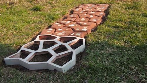 Paving Concrete Mold Mould Molds Plastic 60x60x6cm Stones Stone Slabs Slab  Garden Patio Driveway Pathmate Pavement