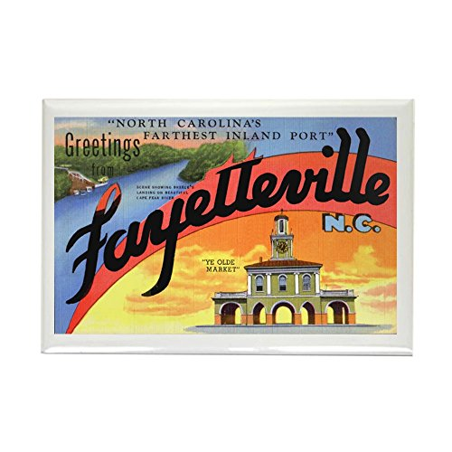 CafePress Fayetteville North Carolina Greetings Rectangle Ma Rectangle Magnet, 2