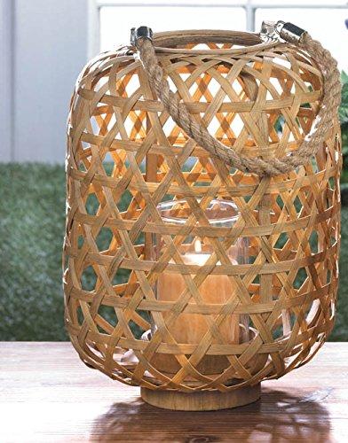 Bamboo Lantern Stand (Large Bamboo Woven Lantern Dramatic Stylish Lighting Hangs Stands)