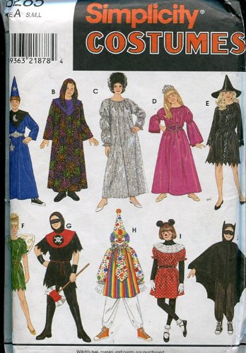 Simplicity Costumes Pattern 8285 ~ Boys/Girls Mix & Match ~ Size A (Small/Med/Large) (Clown Costume Patterns)