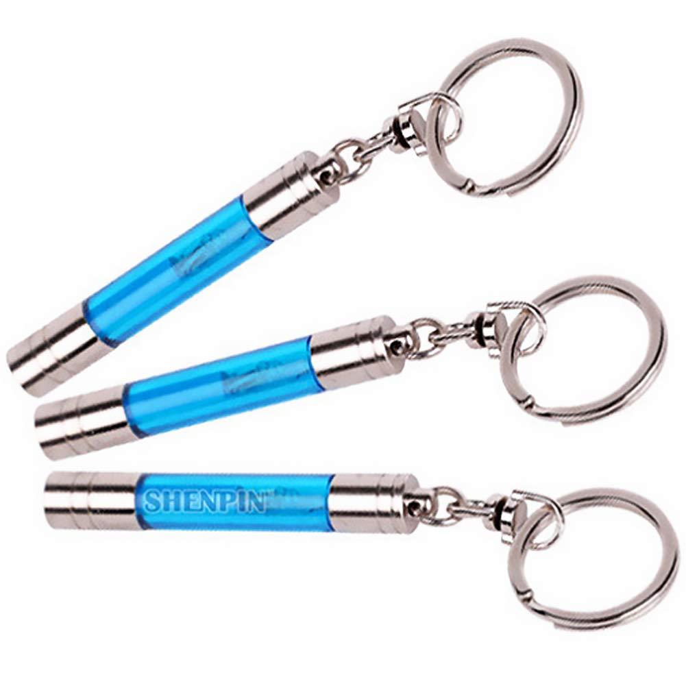 Anti-Statique Keychain Cylindre Forme Voiture /électricit/é Statique Releaser Discharger 2 Pi/èces Bleu