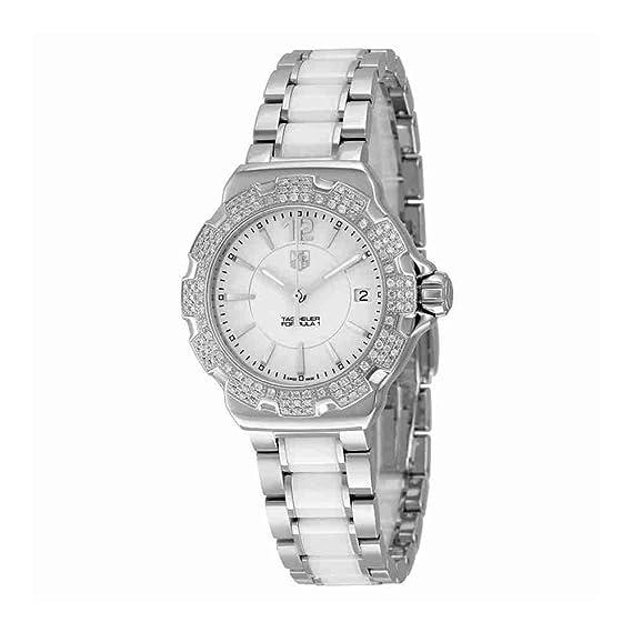 TAG Heuer Reloj de mujer cuarzo suizo correa y caja de acero WAH1218.BA0861