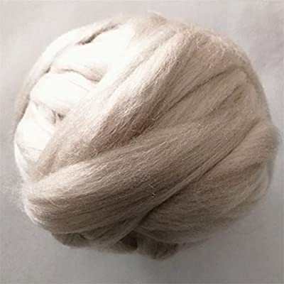 Craft DIY Needle Felting Wool Tops Wool Roving for Felting Spinning and Making Dreadlocks Black