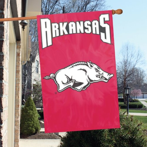 Arkansas Razorbacks NCAA Applique Banner Flag