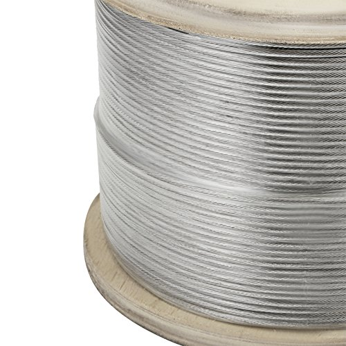 """LOVSHARE 1/8"""" 1000FT Wire Rope T316 Stainless Steel Cable Railing 1x19 Strand Core Cable Reel by LOVSHARE (Image #2)"""
