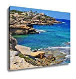 Ashley Canvas, View Of The Cliffy Coast Of Sant Josep In The Southwest Of Ibiza Island Spain, Home Decoration Office, Ready to Hang, 20x25, AG6535165