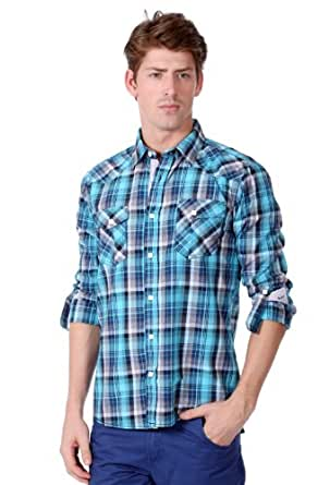ONE90ONE 'Avan' Slim Fit Shirt for Men (Small)