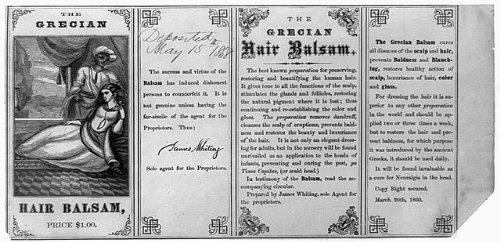 Photo: Grecian hair balsam,preparations,patent ()