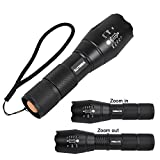 VIBELITE Super Bright Flashlight High Battery Powered,Outdoor Water Resistant Torch,500Lumens,5 Light Modes for Camping and Hiking etc (2 Pack)