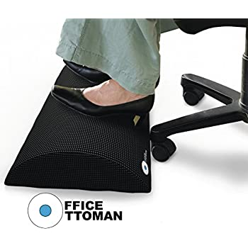 Foot Rest Under Desk Non-Slip Ergonomic Foam Cushion - Excellent Under Desk Leg Clearance, by Office Ottoman