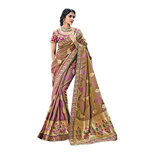 Seta Matrimonio richlook Saree abito jari partywear tradizionale sposa sari da donna etnico indiano indiano 2603 latest EgqwrgB