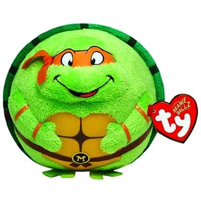 TY Beanie Ballz Michelangelo Orange Mask: Toys & Games