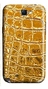 Samsung Note 2 Case Yellow Texture 3D Custom Samsung Note 2 Case Cover